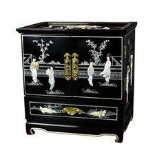 Lacquer Black Empress Jewelry Box