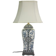 "Vase 26"" H Table Lamp with Bell Shade"