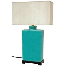 "28"" H Table Lamp with Rectangular Shade"