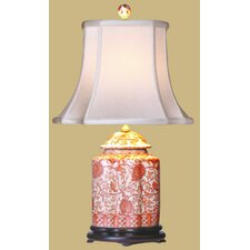 "Porcelain Scallops Jar 22"" H Table Lamp with Bell Shade"