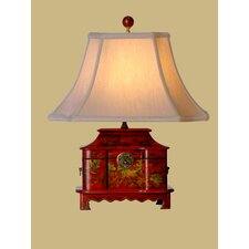 20 Inch Leather Box Lamp