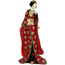 Geisha With Pale Green Sash Figurine