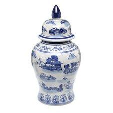 Landscape Temple Decorative Urn