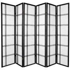 "70"" x 84"" Double Cross Shoji 6 Panel Room Divider"