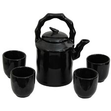 5 Piece Porcelain Teapot Set