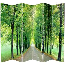 """70.88"""" x 94"""" Path of Life 6 Panel Room Divider"""