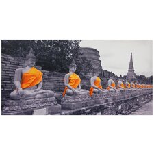 Buddhas Photographic Print on Wrapped Canvas