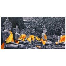 Sash Buddhas Photographic Print on Wrapped Canvas