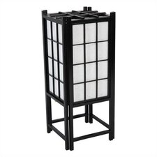 "Window Pane Shoji 18"" H Table Lamp with Rectangular Shade"