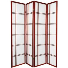 "70"" x 56"" Double Cross Shoji 4 Panel Room Divider"