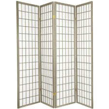 "70"" x 56"" Window Pane Shoji 4 Panel Room Divider"