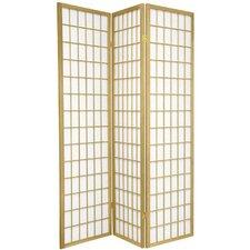 "70"" x 42"" Window Pane Shoji 3 Panel Room Divider"