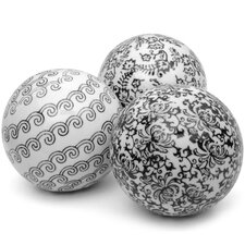 3 Piece Decorative Ball Sculpture Set