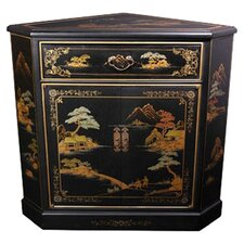 Japanese Crackle Corner Cabinet