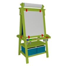 Folding Marker Tray Magnetic Board Easel