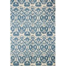Rajapur Ivory & Blue Area Rug