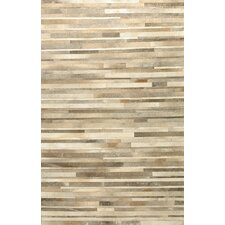 Tuscon Cow Hide Grey Area Rug