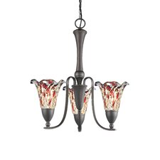 Kingston Three Light Chandelier in Metallic Bronze