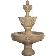 Lion Cast Stone Leonesco Tiered Fountain