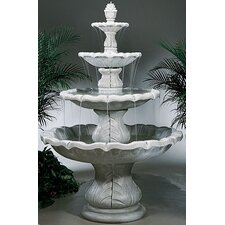 Four-Tier Cast Stone Classical Finial Waterfall Fountain