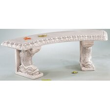 Cast Stone Curved Dolphin Picnic Bench