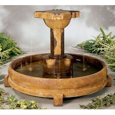 Centerpiece Stone Overflowing Cross Fountain