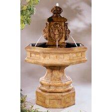 Classic Lion Stone Waterfall Fountain