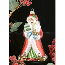 Father Christmas with Bunnies Ornament