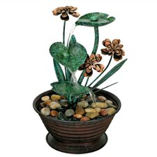 Nature's Garden Metal Lily Pad Fountain