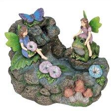 Nature's Garden Resin Fairy Pond Fountain