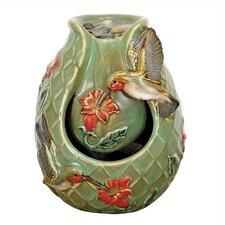 Nature's Garden Porcelain Hummingbird Water Fountain