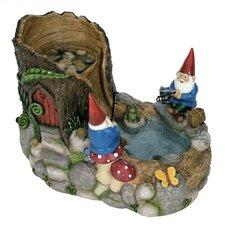 Nature's Garden Resin Gnome Fountain