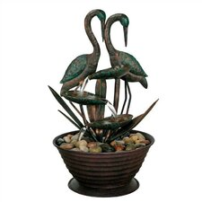 Nature's Garden Metal Birds Fountain