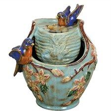 Nature's Garden Porcelain Bluebird Water Fountain