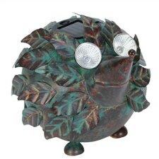 Nature's Garden Hedgehog Solar Eyes Metal Critter Statue