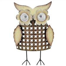 Nature's Garden Owl Big Eyes Metal Critter Solar Statue