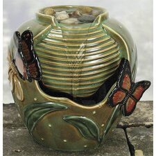 Porcelain Butterfly Beauty Water Fountain