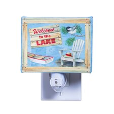 Welcome to the Lake Canvas Night Light