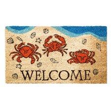 Crabby Welcome Coir Doormat