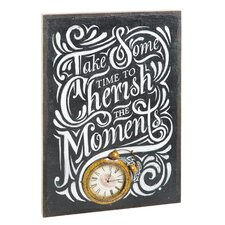 Life is Sweeter on the Farm Cherish the Moment Burlap Wall Clock Canvas
