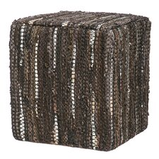 Home on the Range Leather Pouf