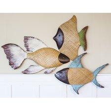 Coastal Elegance 3 Piece Fish Wall Decor (Set of 3)
