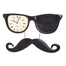Sunglasses and Mustache Disguise Metal Wall Clock