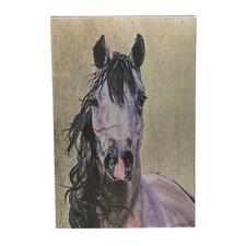 Horse Portrait Metallic Wall Art on Canvas