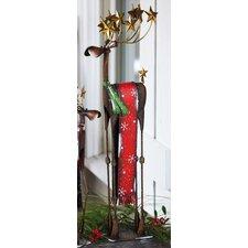 Snowfall Holiday Tall Reindeer Statuary