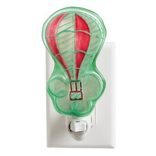 Up in the Air Balloon Painted Night Light