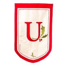 Holiday Monogram Garden Flag