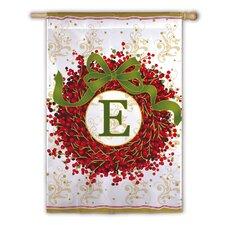 Holiday Monogram 2-Sided Garden Flag