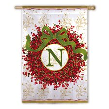 Holiday Monogram 2-Sided Garden Flag