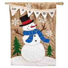 Let it Snow Vertical Flag